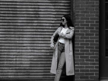 trench coat with Zara jeans and madewell t-shirt